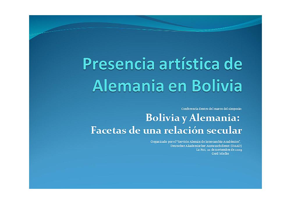 Presencia artística de Alemania en Bolivia jpg