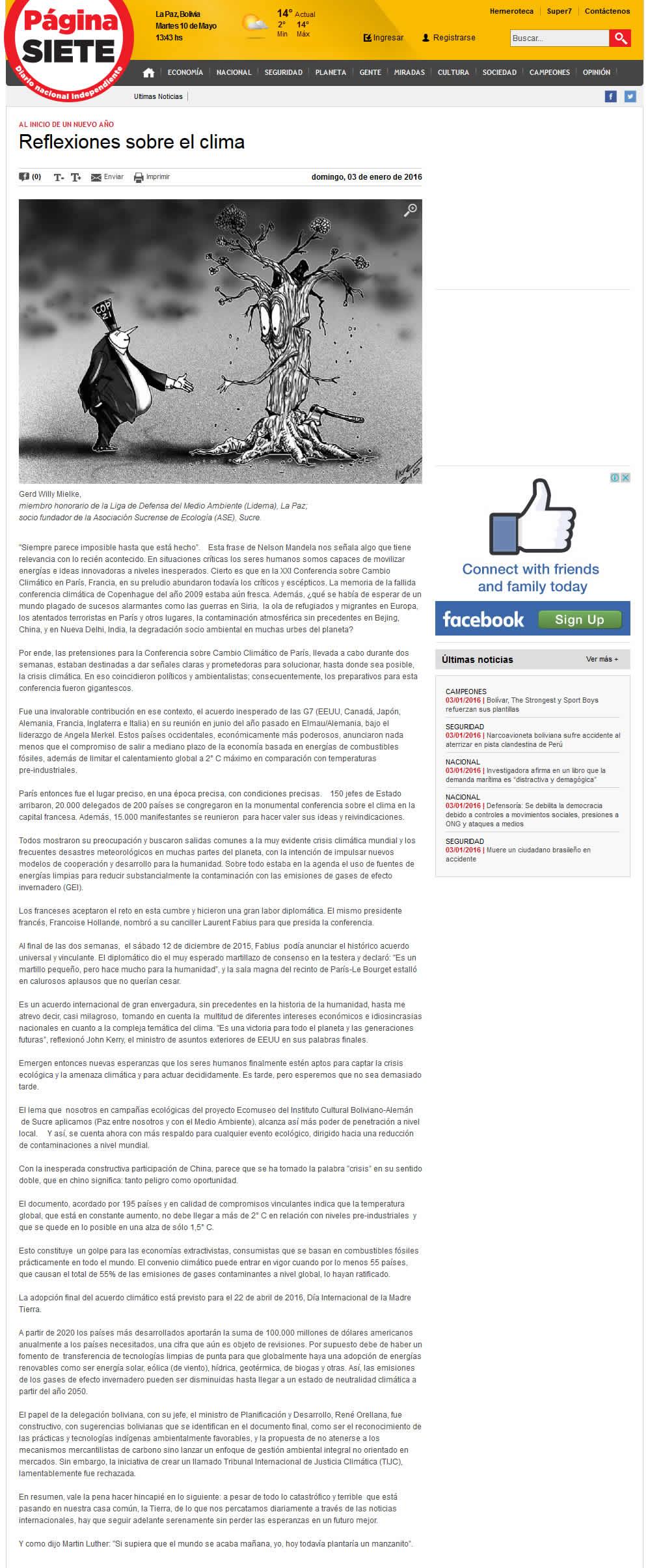 Reflexiones sobre el clima - Diario Pagina Siete jpg