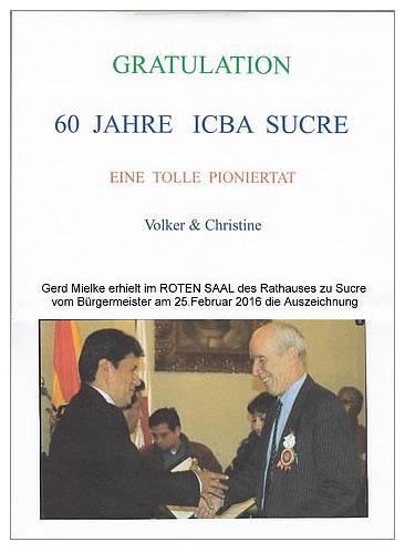 60 Jahre ICBA  Sucre