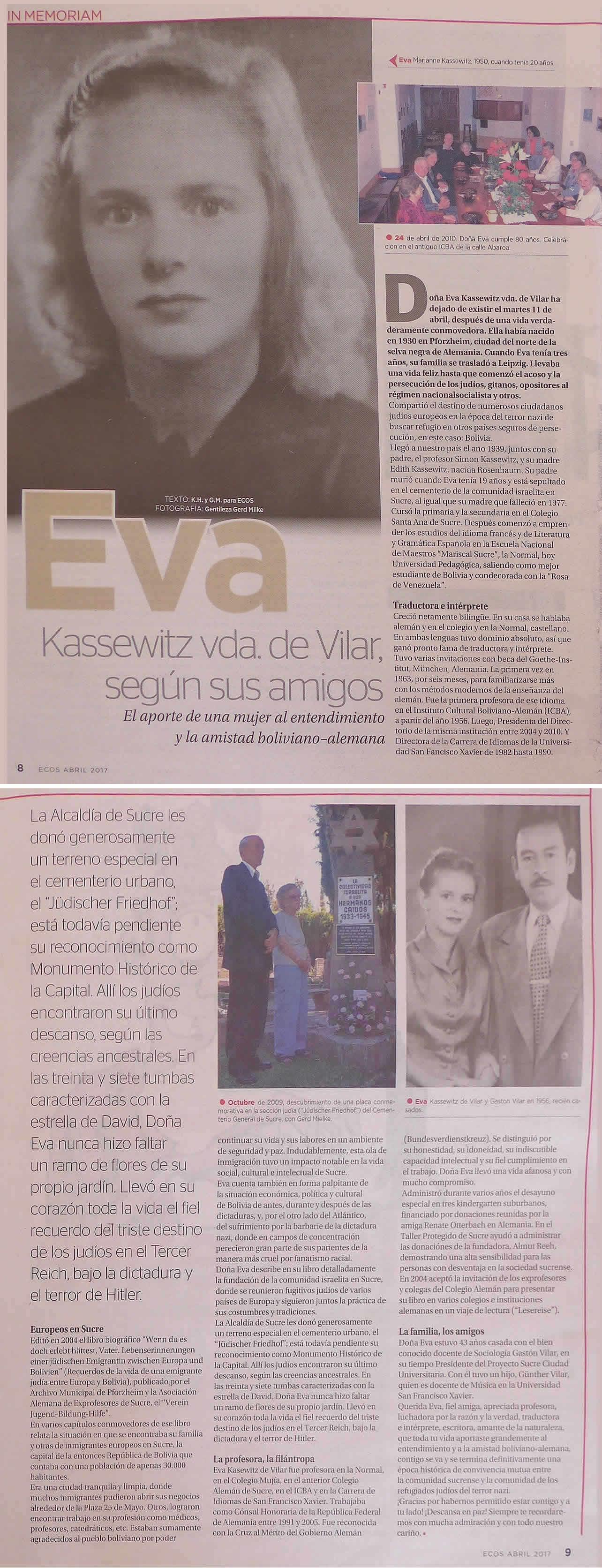 Eva Kassewitz_Correodelsur_Ecos 30 Abril 2017